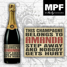 Personalised Funny Champagne Bottle Label - Any Name - Vintage Shabby Chic Retro