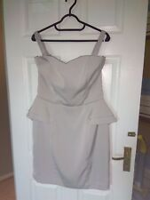 Womens Dress By H&M. Pearl Grey. Size 14. Used Once Very Good Condition