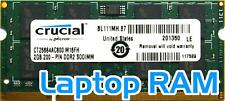 Unbranded 2GB PC2-6400S (DDR2-800Mhz, 2RX8) Laptop RAM