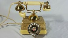 Vintage Rotary Phone Princess Victorian Style Brass Cool!