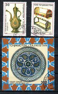 Tadschikistan 117/18 und Block 11 o Kunsthandwerk.(3321)