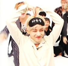 BTS BangtanBoys V Kim Taehyung Wearing Sleeping eye mask K-pop Goods Photo
