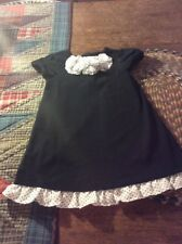 Janie And Jack Toddler Girls Black Dress...size 12-18 Months