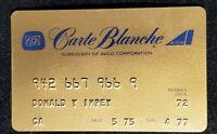 Member since 1977 Carte Blanche Gold Card  ♡Free Shipping♡cc161♡