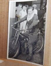 original 1940's photo Of Jack Parker Bellevue Aces rider on his bike postcard sz