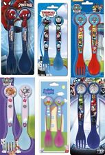 Cartoon Character Collection Plastic Cutlery Set (Spoon & Fork) - Kids/Toddlers