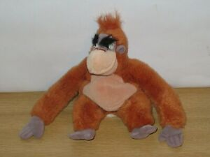 King Louie Soft Plush Bean toy From The Jungle Book. Disney Store. 9 inches high
