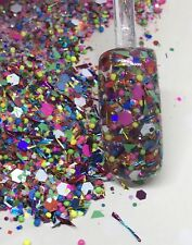 glitter mix acrylic gel nail Art GET YOUR COLOR ON