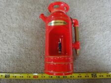 "Vintage music box, fire extinguisher decanter, figure, ""How Dry I Am"""