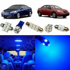 5x Blue Led Lights Interior Package Kit For 2005 2010 Pontiac G6 Pg2b