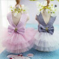 Small Pet Dog Cat Summer Lace Skirt Princess Tutu Dress Puppy Clothes Apparel
