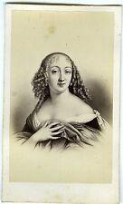 PHOTO CDV Paris Desmaisons Madame de Lavallière d'après dessin circa 1860