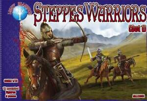 Steppes Warriors (Set 1) (12 figures/ 6 poses) 1/72 Alliance 72051