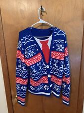 Acrylic Christmas Regular Size M Cardigan Sweaters For Men For Sale