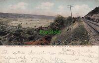 Postcard Beautiful Genesse Valley Dansville NY Lakawanna Railroad