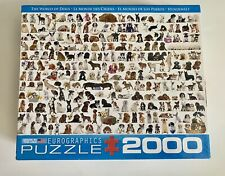 World of Dogs 2000 piece jigsaw puzzle puppies Eurographics Made in USA complete