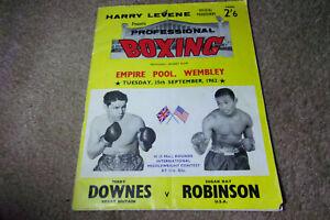 Sugar Ray Robinson vs Terry Downes Boxing Program