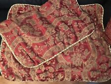 Jla Home Monmartre Queen Pillow Sham set red/gold