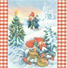 1 Lunch Papier Serviette Napkin (BP676) Nisser im Schnee