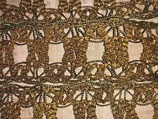Antique French Passementerie 19th Century Empire Gold Metallic Lace 92� Unused