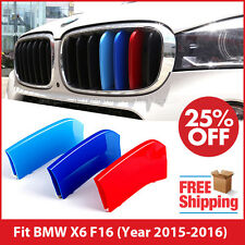 M-Tech Kidney Grill Grille 3 Colour Cover Stripes Clips for BMW X6 F16 2015-2016