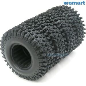4pcs RC 1.9 Super Swamper Tires MT tyre 108mm Fit 1.9 Crawler Beadlock Wheel Rim