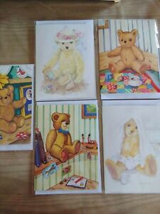 30 TEDDY BEAR CARDS, WHOLESALE JOBLOT GREETINGS CARDS