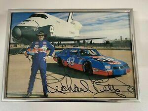 Richard Petty Vtg NASCAR STP 1987 Photo Race Car Space Shuttle NASA signed #43
