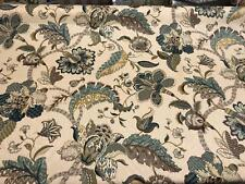 P. Kaufmann Finders Keep Floral Blue Brocade Fabric By The Yard