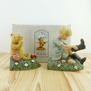 Disney's Winnie the Pooh Bookends Classic Pooh Book Ends Come With Original Box