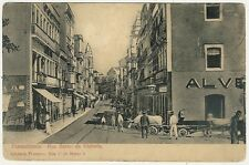 Brazil, Pernambuco, Rua Barao da Victoria, Street Scene, Old Postcard