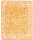 """Vintage Hand-knotted Carpet 8'1"""" x 9'8"""" Traditional Dark Gold Wool Area Rug"""