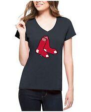 Boston RED SOX Women's MLB Splitter Logo T-Shirt by '47 Brand NWT 50% off