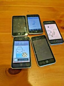 Mixed Ipod touch iphone Lot - parts used Untested lot of 5 - 32 GB 16 GB NR