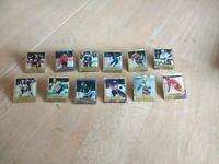 1991 NHL Ace Collector Pin Lot of 12. Bourque, Tikkanen, Makarov, Damphousse.