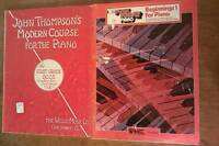 Vintage John Thompson's Modern Course For The Piano & EZ Play Piano Beginners