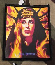 King Diamond Fatal Portrait Printed Patch K015P Mercyful Fate Metallica Ghost