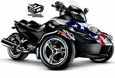 Can Am Spyder GS RS RSS graphic wrap decal kit The Patriot - Hood & Fender