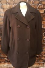 Bromley Wool Blend Peacoat New With Tags Jacket Women Size 6 Winter Brown