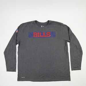 Buffalo Bills Nike Dri-Fit Long Sleeve Shirt Men's Gray New with Tags