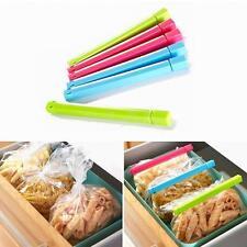 6x Food Snack Storage Bag Clips Kitchen Freezer Fridge Bags Sealing Sealer Tool