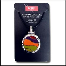 Thread Cutter Pendant by Bohin Couture  - Lime/Orange Wave