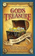 NIV God's Treasure Holy Bible, Hardcover: Golden Promises and Priceless Stories