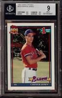 1991 Topps Tiffany #333 Chipper Jones Rookie RC Card BGS 9 Mint = PSA 9 HOF!!