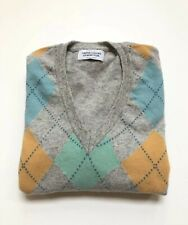 United Colors of Benetton V Neck Mens Sweater Lana Wool Large Made In Italy