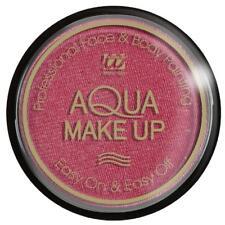 Trucco Make Up Rosa Metallizzato Ad Acqua Accessori Carnevale Halloween PS 08197
