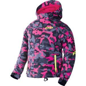 FXR™ Youth Fresh Fuchsia Urban Camo/Hi-Vis Snowmobile Jacket 170401-9165-XX