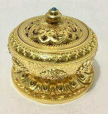 Decorated Brass Charcoal Incense Burner