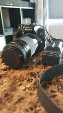 Sony Alpha DSLR-A200 10.2MP Camera w/ 75-300mm lens &  28-80mm lens 4GB CF Card