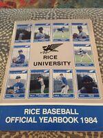 1984 Rice University Baseball Yearbook Norm Charlton